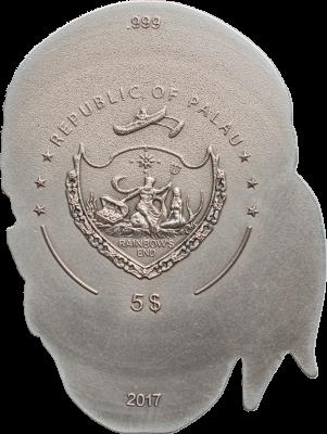 Palau - 2017 - 5 Dollars - Pirate Skull