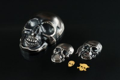 Palau - 2017 - 1 Dollar - Golden Pirate Skull