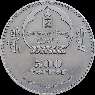 Mongolia - 2017 - 500 Togrog - Evolution of Life ICHTHYOSAUR
