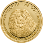 Mongolia - 2018 - 1000 Togrog - Year of the Dog small gold