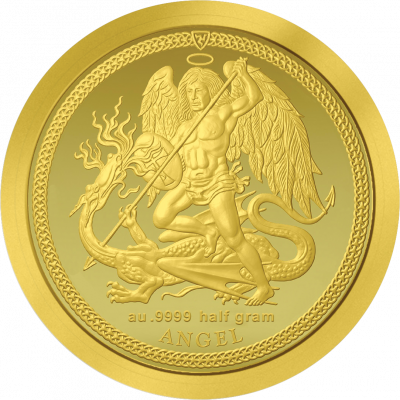 Isle of Man - 2017 - 1/64 Angel small gold
