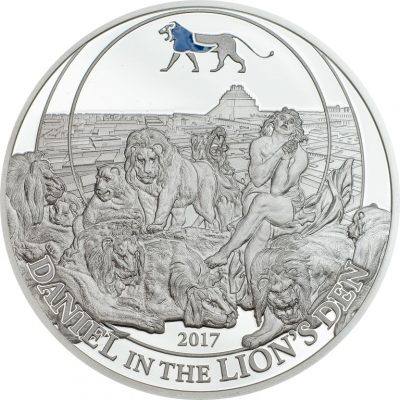 Palau - 2017 - 2 Dollars - Biblical Stories DANIEL IN THE LIONS DEN