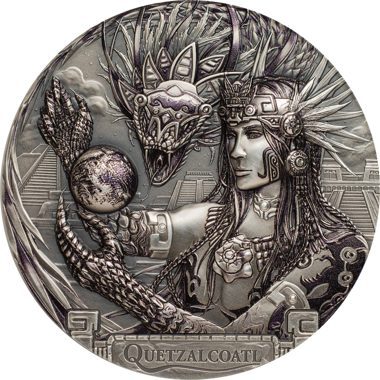 Cook Islands - 2017 - Gods Of The World QUETZALCOATL Aztec Feathered Serpent