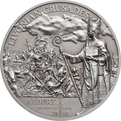 Cook Islands - 2018 - 5 Dollars - History of the Crusades LIVONIAN CRUSADE