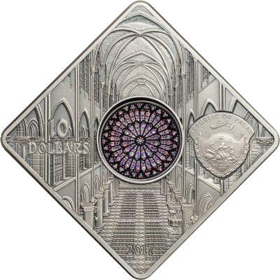 Palau - 2017 - 10 Dollars - Sacred Art NOTRE DAME DE PARIS