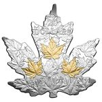 Canada - 2017 - 20 Dollars - Gilded silver maple leaf cut out