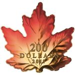 Canada - 2017 - 200 Dollars - Gold silver maple leaf cut out