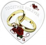 Tokelau - 2017 - 1 Dollar - Together Forever Heart Shaped