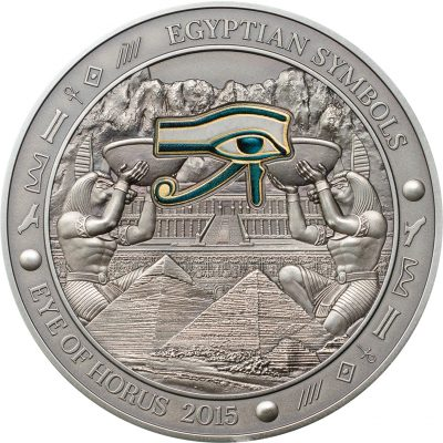 Palau - 2015 - 20 Dollars - Egyptian Symbols EYE OF HORUS