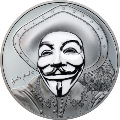 Cook Islands - 2017 - 5 dollars - Historic Guy Fawkes Mask