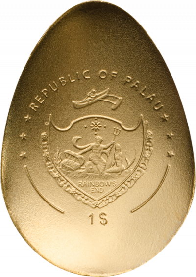 Palau - 2018 - 1 Dollar - Golden Egg SWAN EGG