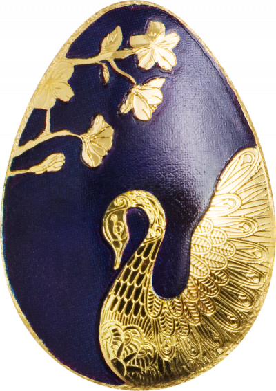 Palau - 2018 - 1 Dollar - Golden Egg SWAN EGG