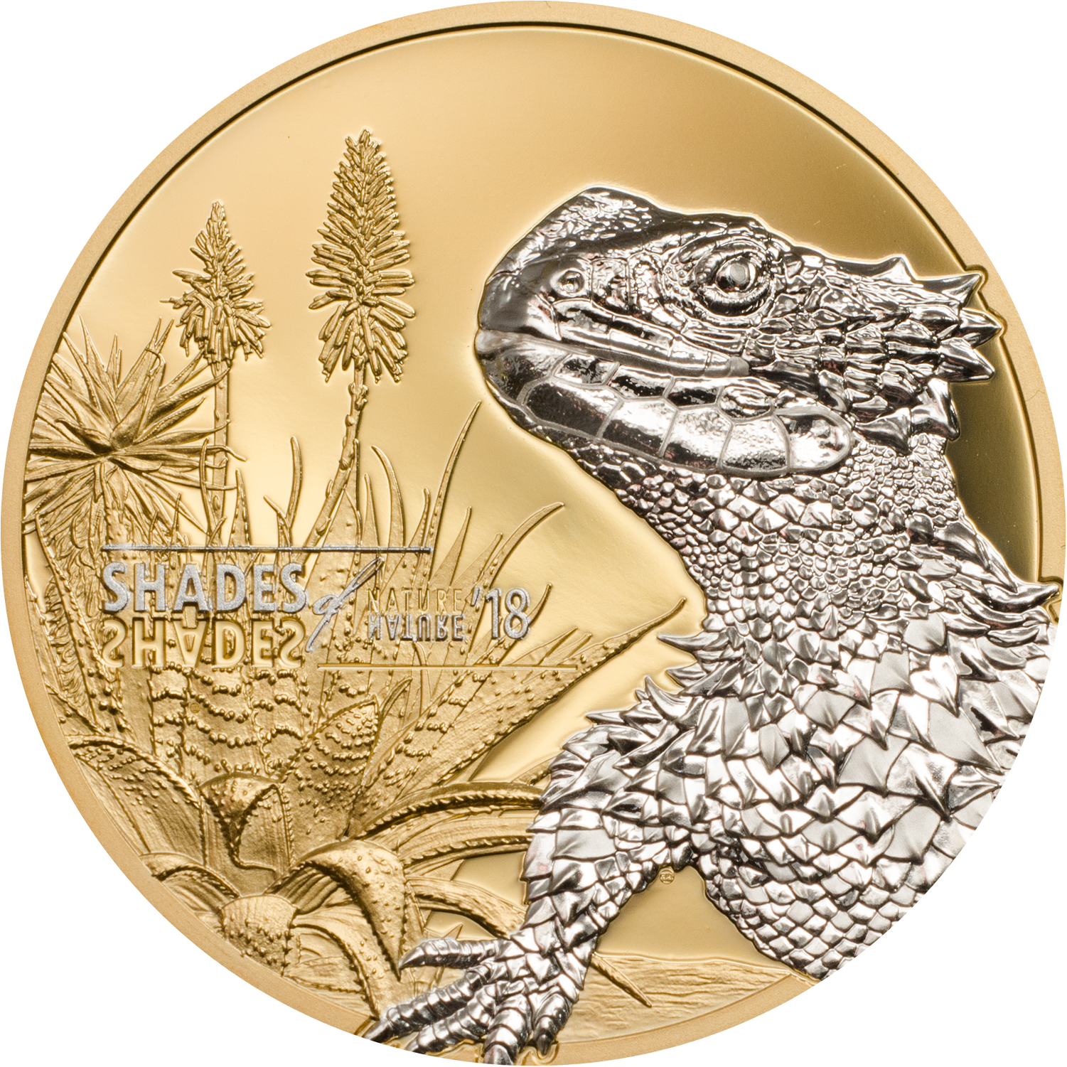 Cook Islands - 2018 - 5 Dollars - Shades of Nature LIZARD