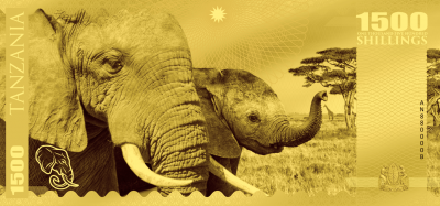 Tanzania - 2018 - 1500 Shillings - Big Five: Elephant