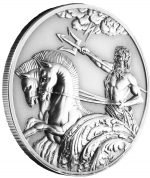 Tokelau - 2017 - 5 Dollars - Poseidon Greek God of the Sea HIGH RELIEF SINGLE BOX