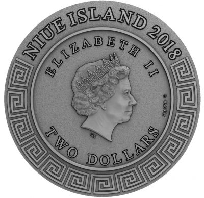 Niue - 2018 - 2 Dollars - Poseidon God of the Sea
