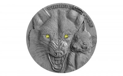 Niue - 2017 - 1 Dollar - Wildlife Family WOLF