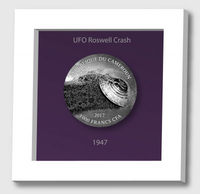 Cameroon - 2017 - 3000 Francs - 70th Anniversary of Roswell Incident