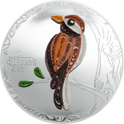 Cook Islands - 2017 - 2 Dollars - Quilling Art Bird