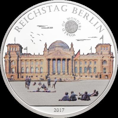 Palau - 2017 - 5 Dollars - World of Wonders REICHSTAG BERLIN (PROOF)