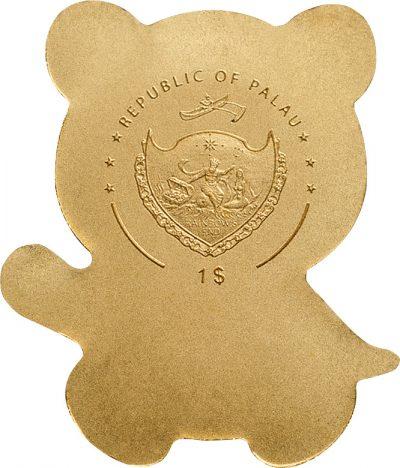 Palau - 2017 - 1 Dollar - Little Panda Small Gold