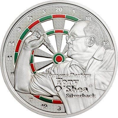 Cook Islands - 2014 - 1 Dollar - Famous Darters TONY O'SHEA (PROOF)
