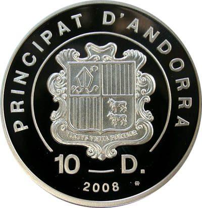 Andorra - 2008 - 10 Dinars - Extreme Sports Kitboarding (PROOF)