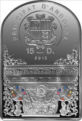 Andorra - 2012 - 15 Dinars - Madonna Boticelli (PROOF)