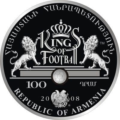 Armenia - 2008 - 100 Dram - Kings of Football PELE (PROOF)