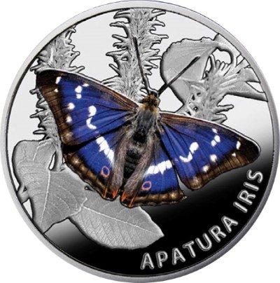 Belarus - 2013 - 20 Roubles - Butterflies THE PURPLE EMPEROR (PROOF)