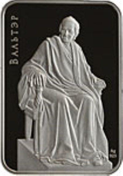 Belarus - 2011 - 20 Roubles - Sculptures VOLTAIRE (PROOF)