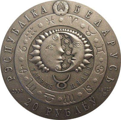 Belarus - 2009 - 20 Roubles - Zodiac Series TAURUS (BU)