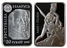 Belarus - 2010 - 20 Roubles - Sculptures Cupid and Psyche (PROOF)