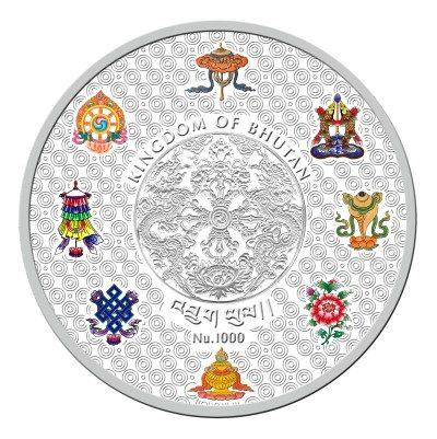 Bhutan - 2015 - 1000 Nu. - Shakyamuni Buddha of Bhutan 5oz Silver (PROOF)