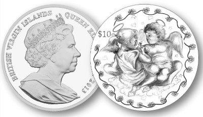 British Virgin Islands - 2013 - 5 Dollar - The 2013 Cherub Angels Love Coin (PROOF)