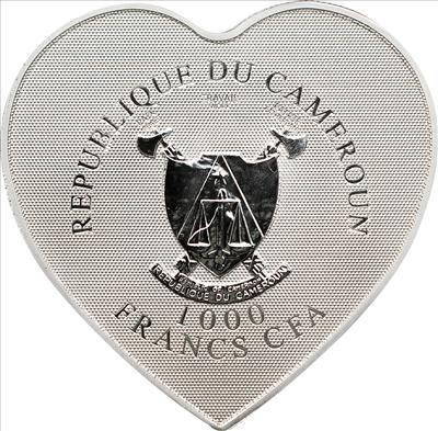 Cameroon - 1000 Francs CFA - Heart of Love (including box) (BU)