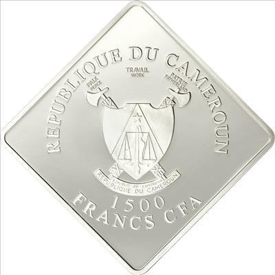 Cameroon - 2010 - 1500 Francs - Rare WildLife BLACK RHINO (PROOF)