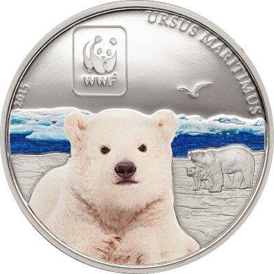 Central African Rep. - 2015 - 100 Francs CFA - WWF 2015 POLAR BEAR (including box) (PROOF)