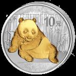China - 2015 - 10 Yuan - Panda (gilded 1oz ag) (BU)