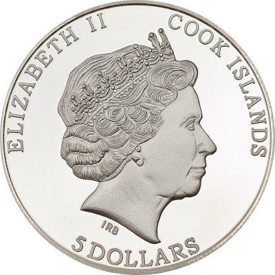 Cook Islands - 2013 - 5 Dollars - Albrecht Dürer RHINOCEROS (including box) (PROOF)