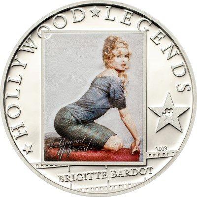 Cook Islands - 2013 - 5 dollars - Hollywood Legends BRIGITTE BARDOT (including box) (PROOF)