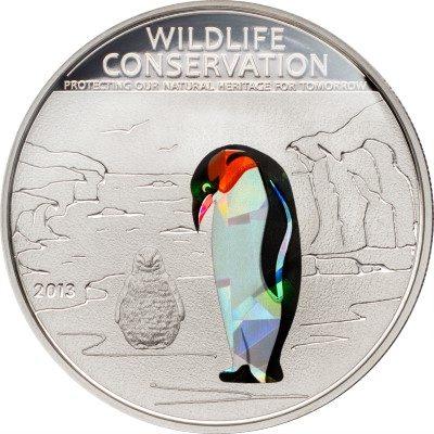 Cook Islands - 2013 - 1 dollars - Wildlife Conservation PENGUINE (PROOF)