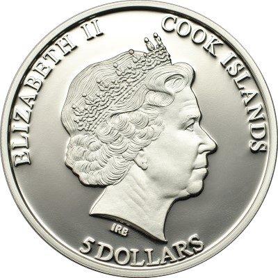 Cook Islands - 2013 - 5 Dollars - PGA Tour GOLF CLUB (including box) (PROOF)