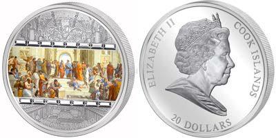 Cook Islands - 2008 - 20 Dollars - Ars Vaticano II Raffaello (PROOF)