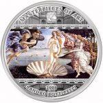 Cook Islands - 2008 - 20 Dollars - Sandro Botticelli Birth of Venus (PROOF)