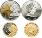 Cook Islands - 2008 - 5+10 Dollars - Nicolaus Copernicus (PROOF)