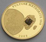 Cook Islands - 2008 - 50 Dollars - Meteorite Pultusk Poland GOLD (PROOF)