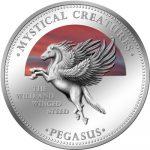 Cook Islands - 2009 - 1 Dollar - 7 Mystical Creatures PEGASUS (PROOF)