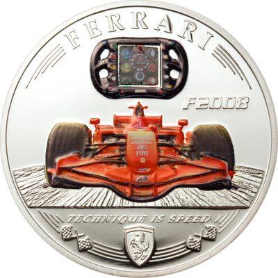 Cook Islands - 2009 - 5 Dollars - Ferrari F2008 Carbon (PROOF)