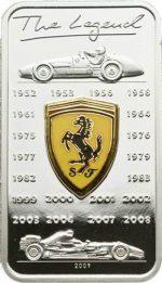 Cook Islands - 2009 - 5 Dollars - Ferrari - with Cloisonné (PROOF)